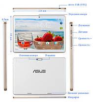 """МОЩНЫЙ! Планшет-Телефон АSUS Z906 10"""" IPS+ 2\16GB 3G 2 СИМ GPS+ Чехол в ПОДАРОК, фото 3"""