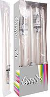Декоративные свечи конусные перламутровые BISPOL s30-1/10-x белые