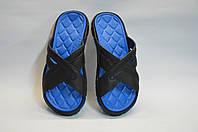 Шлепанцы мужские пляжные оптом С 60 синие, фото 1