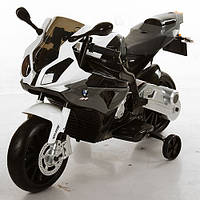 Мотоцикл детский JT 528E-11 BMW/БМВ, EVA колёса, серый
