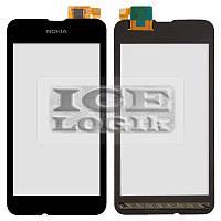 Сенсорный экран для мобильного телефона Nokia 530 Lumia, черный, analog, #Synaptics S2333B 44110572