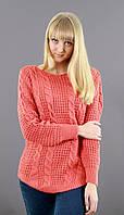 Женский свитер с средними косами