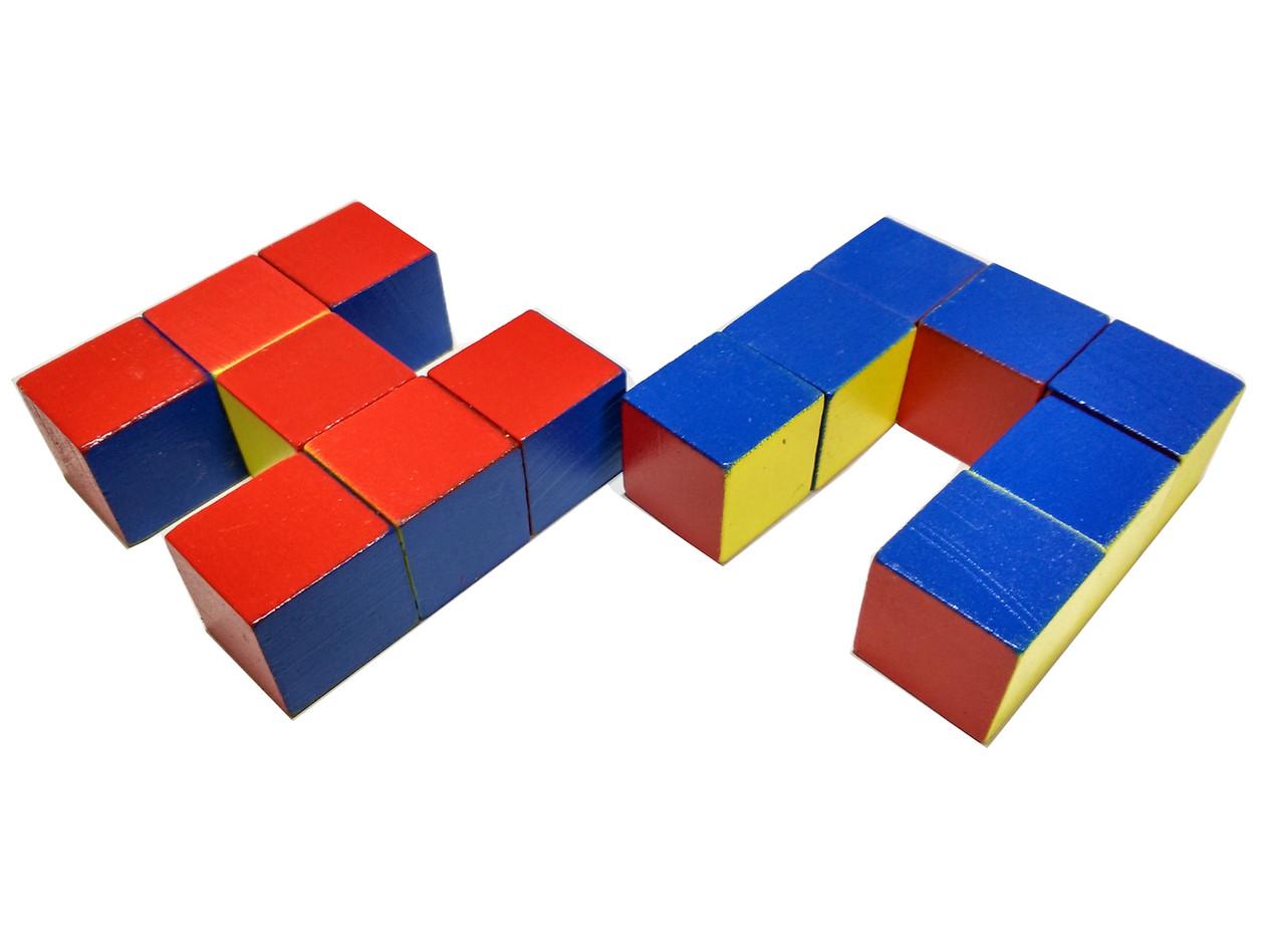 Уникуб, методика Никитина, деревянные кубики 3х3см - фото 3
