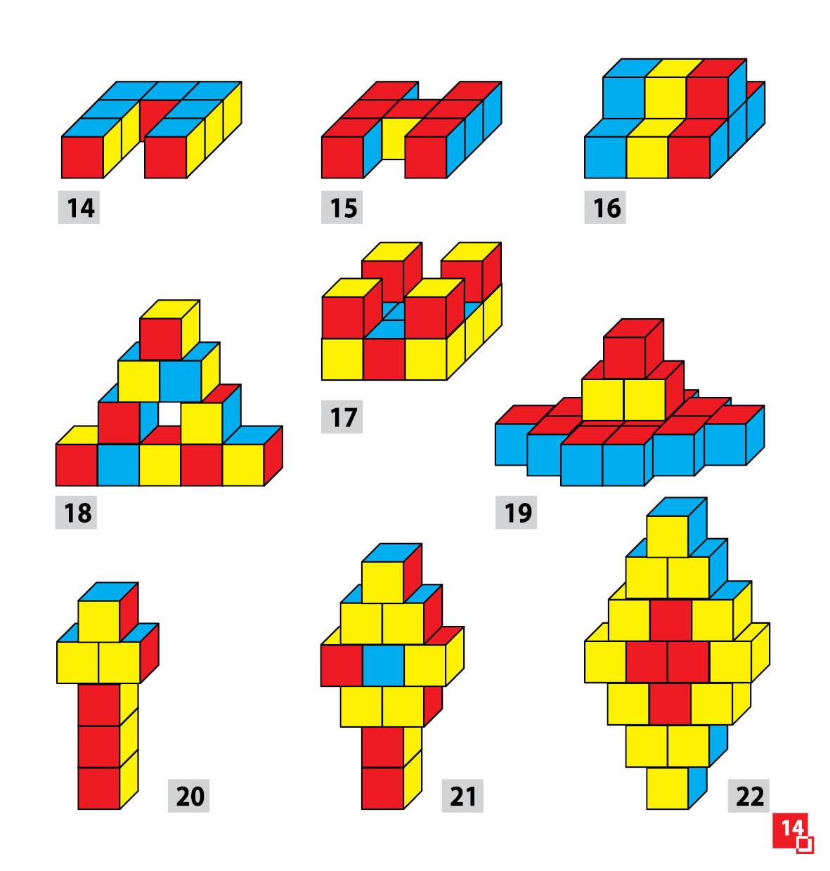 Уникуб, методика Никитина, деревянные кубики 3х3см - фото 4