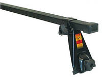 Багажник на дах автомобіля Amos Uni Stl (стальний, на водостоки) / Автобагажник на крышу Амос Юни, стальной