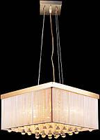 Золотистая люстра для больших комнат, фото 1