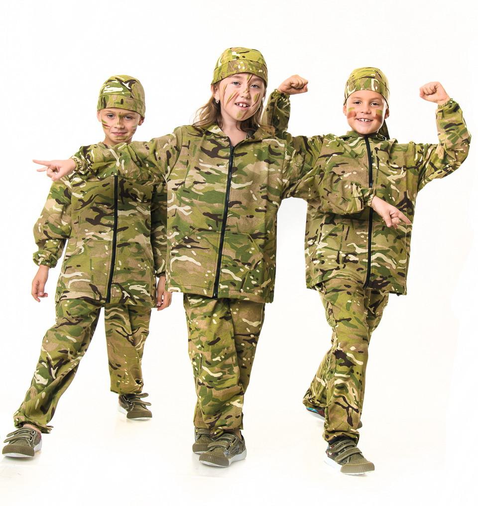 Спортивный костюм детский для мальчиков камуфляж Мультикам