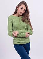 Изумительный и женственный джемпер выполнен из мягкой шерстяной пряжи, фото 1