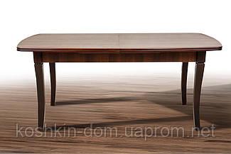 Стол обеденный Квартет Ультра орех темный раскладной массив клена 180(+50)*90 см