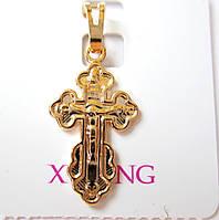 Крест детский Распятие 0115 медицинская сталь+ювелирный сплав
