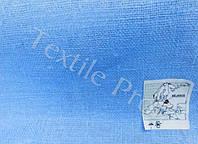 Льняная декоративная мешковина (голубого цвета)