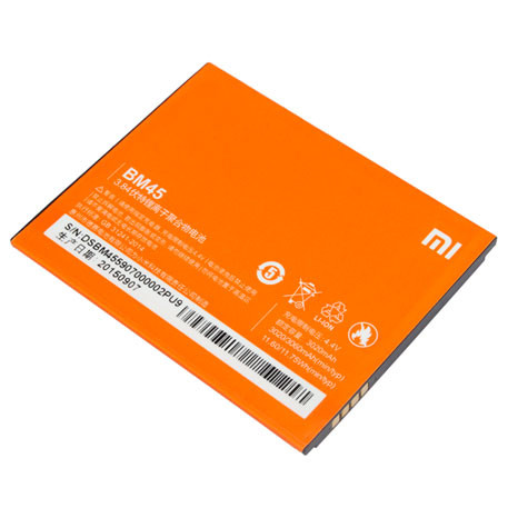 Аккумулятор для Xiaomi Redmi Note 2 (BM45) Оригинал