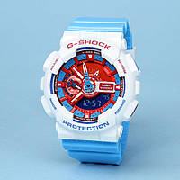 Распродажа! Яркие спортивные часы Casio g-shock Ga-110 Blue White AAA