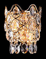 Кристально золотистая люстра- бра