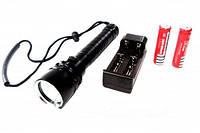 Подводный фонарь Police Q-23: светодиод T6, водонепроницаемый, 100 Вт, 5 режимов, алюминий, черный