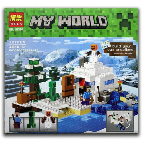 Конструктор Bela 10391 Майнкрафт Снежное укрытие (аналог LEGO 21120) 327 дет