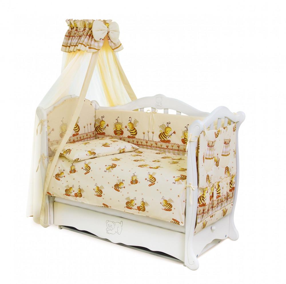 Детский постельный комплект Comfort «Пчелки» (С-031, 8 элементов), Twins