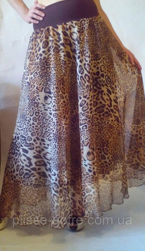 56fd87698c8 Заказать Лёгкие летние пышные юбки тонкие шифоны леопардовые принты ...