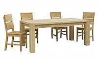 ХИЛТОН стол раскладной + 4 стула (Мебель-Сервис)