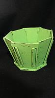 Кадка из дерева для цветов, 22х22х14,5 см 145\115 (за 1 шт + 30 грн)
