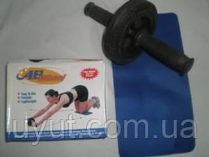 Ролик гімнастичний одинарний, обважений в комплекті з килимком.
