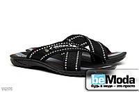 Мужские сандалии Line Flex  стильного фасона из полос с белой выстрочкой, перекрещенных на подъеме чёрные