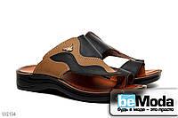 Экстравагантные мужские сандалии Wave Flex из экокожи стильного фасона с эффектом мозаики чёрные