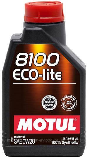 MOTUL 8100 ECO-LITE 0W-20 100% СИНТЕТИЧЕСКОЕ (1л)