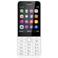 """Мобильный телефон Nokia 230 Silver / White (A00026972) (моноблок, 2.8 """"TFT, 240x320 143 ppi, встроенной памяти"""