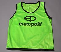 Футбольные манишки детские Europaw. Разные цвета