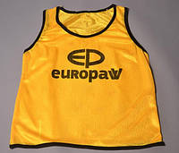 Футбольные манишки детские Europaw желтые