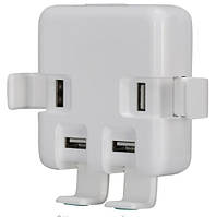 Адаптер питания- сетевое универсальное зарядное устройство на 4 USB порта, фото 1