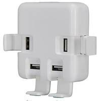 Адаптер питания - сетевое универсальное зарядное устройство на 4 USB порта