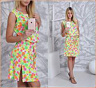 Женское яркое летнее платье