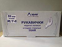Перчатки смотровые стерильные Игар 50 пар