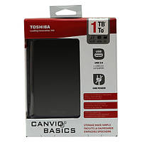 "Внешний жесткий диск 2.5 ""1 TB TOSHIBA Stor.E Canvio Basics Black (HDTB310EK3AA) (USB 3.0; 5400 rpm; 230 g)"