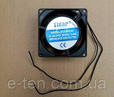 Вентилятор осевой универсальный Tidar 80мм*80мм*25мм / 220-240V / 0,08А / 11W (квадратный)