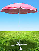 Зонт для дачи HZT /N-23: без клапана, диаметр 3,5 м, 6 спиц, подставка, цвета в ассортименте