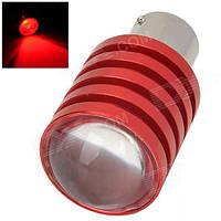 Светодиодная лампа цоколь T15, P21W (1156 BA15s) 5W, линза 12В