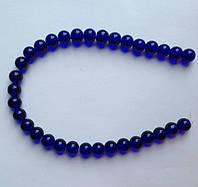 Бусина Шар цвет синий кобальт 10 мм