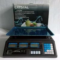 Торговые весы Cristal 40 кг 6V Цена деление 2 грамма