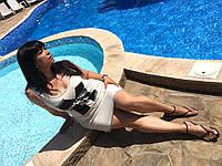 Платье М-ка хлопок молоко батал , фото 1