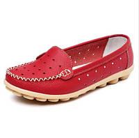 Туфли женские красные натуральная кожа Т590 р 38,39,40,41