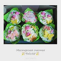 Нежные весенние капкейки ко Дню рождения Happy Birthday Харьков
