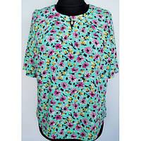 Красивая летняя блуза больших размеров р.56
