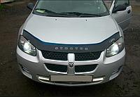 Дефлектор капота (мухобойка) Dodge Stratus 2000–2004