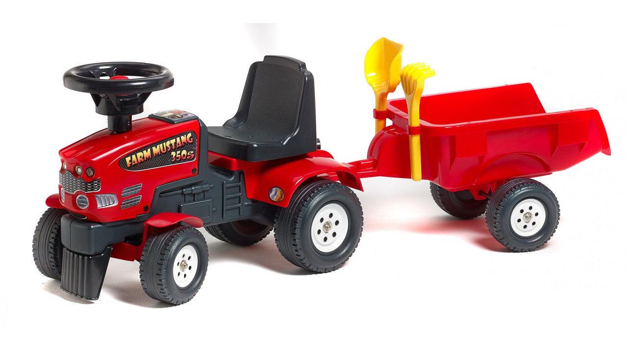 Трактор каталка с прицепом Mustang Falk 1080C