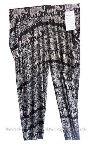 Женские брюки батал, манжет