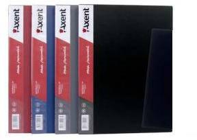 Папка на 10 файлов А4 пластиковая Axent 1010 дисплей-книга черная