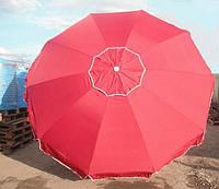 Торговый плотный зонт с клапаном 2.5м,8 спиц